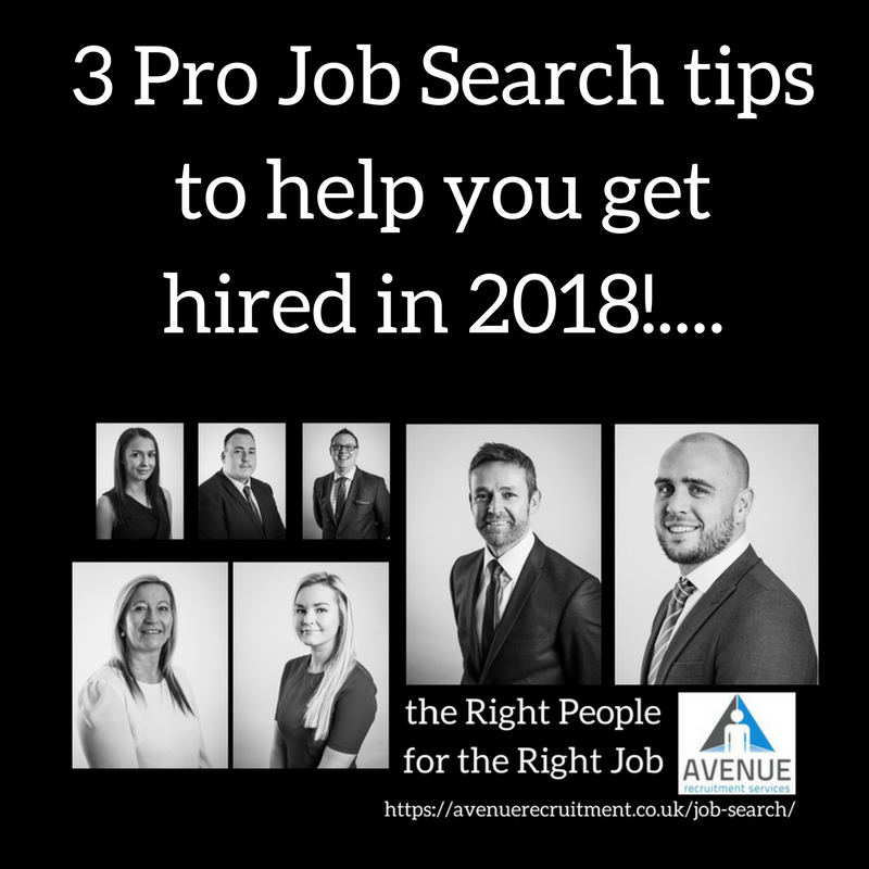 3 Pro Job Search tips to help you get hired in 2018!…